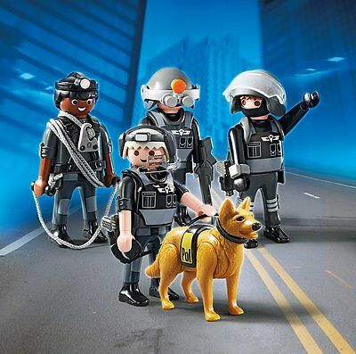 Playmobil 5565 Police SWAT Team with Dog SPECIAL TEAM City Action