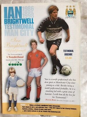 Manchester City v Sunderland (Ian Brightwell Testimonial) 18th July 1984.