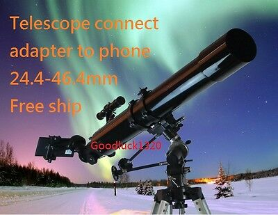 New Phone Adapter Connect Mobile to 26.4-46.4mm Eyepiece Telescope Binocular