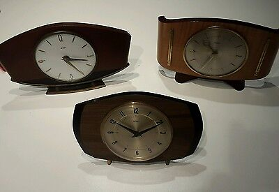 3 orologi da tavolo anni '60/ three mantle clocks sixties