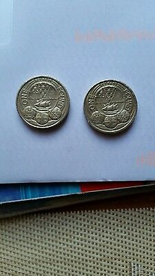 Capital cities one pound coins Belfast x2