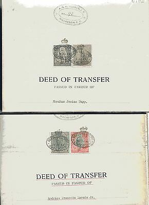 Orange River Colony - Cape Of Good Hope 2 Deed Of Transfer