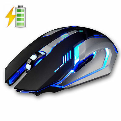 2.4GHz Wireless X7 2ND Rechargeable Silent USB Optical Ergonomic Gaming Mouse