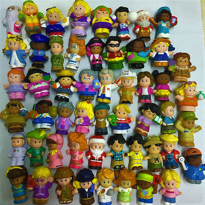 Random 20pcs Fisher Price Little People Father Mother Figure Boy Girl Toy Doll