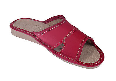 Ladies Women Girl 100% Real Genuine Leather Slippers Flip-Flop Sandals Uk Size 6