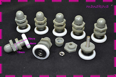 8 Shower Door Rollers / Wheels / Runners / Pulleys B24 d-22mm