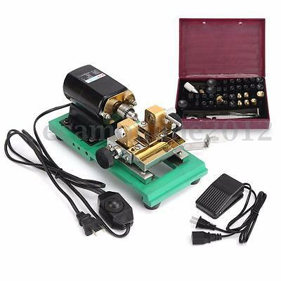 220V Pearl Drilling Holing Machine Driller Beads Making Tools Jewelry Punch Set