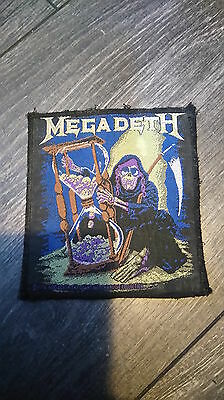 Megadeth Rare Heavy Metal Classic Rock Vintage Woven Patch