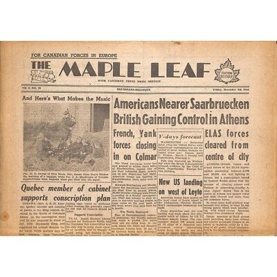 The Maple Leaf. 1944/12/08. Vol.2 N°72.