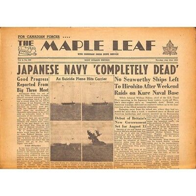 The Maple Leaf. 1945/07/31. Vol.3 N°109.
