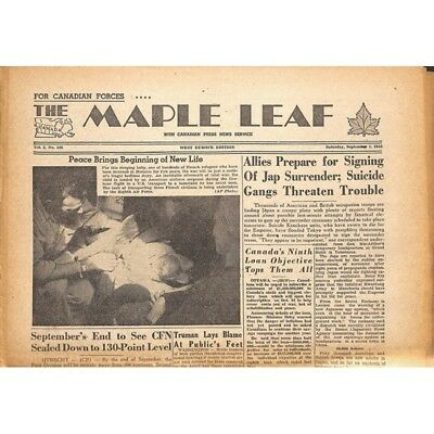 The Maple Leaf. 1945/09/01. Vol.3 N°136.
