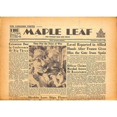 The Maple Leaf. 1945/08/01. Vol.3 N°110.