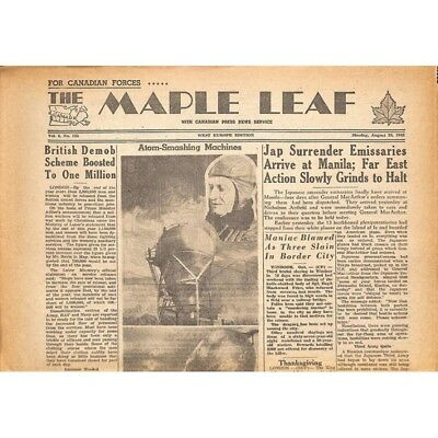 The Maple Leaf. 1945/08/20. Vol.3 N°125.