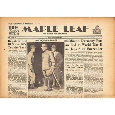 The Maple Leaf. 1945/09/03. Vol.3 N°137.