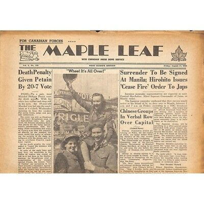The Maple Leaf. 1945/08/17. Vol.3 N°123.