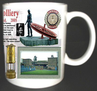 Ellington Colliery Coal Mine Mug. Limited Edition Gift Miners Northumberland Pit