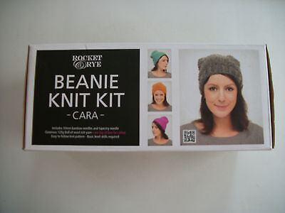 Beanie Knit Kit,pink,rocket Rye,new,ideal Present