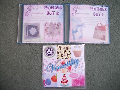 Crater's Companion Cd Roms, Floral Sets 1 & 2 & Versatility Craft Cd Rom