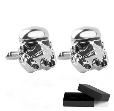STAR WARS - STORM TROOPER CUFFLINKS - *BOX or POUCH* - CHRISTMAS GIFT MEN