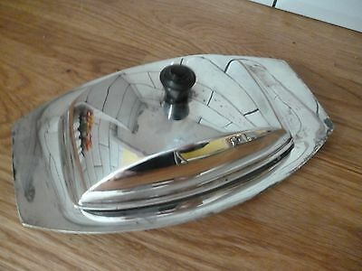 Art Deco Silver Plated Thomas Bradbury Lidded Butter Dish With Glass Liner