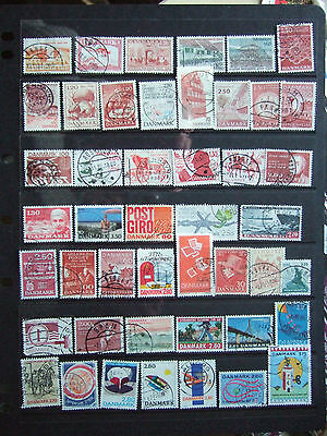 Denmark - Card Full Of Used Stamps - Appear All Different