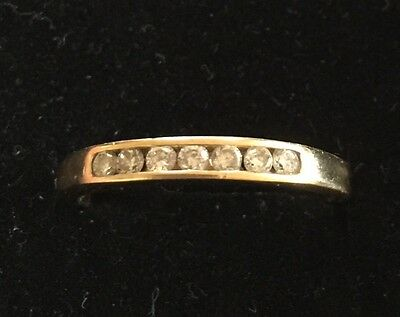 18ct Gold And Diamond Half Eternity Inline Ring Size Q