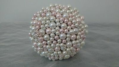 Wedding Flowers... Pink and Ivory Pearl Bouquet