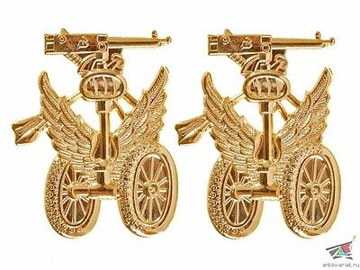 Russia WWI Officers shoulder boards Armored cars units` emblem, gold, replica