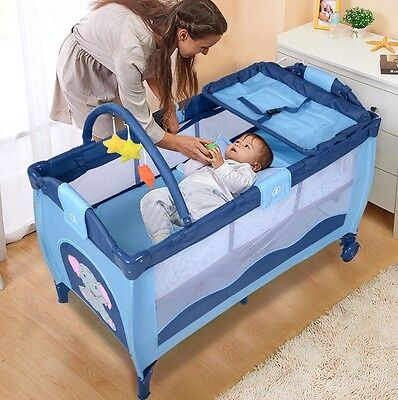 Baby Safety Newborn Bassinet Folding Cradle Crib Infant Nursery Bed For Camping