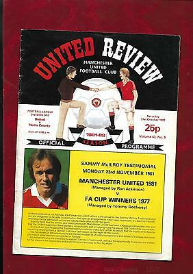 1981/2 Manchester United v Notts County  football programme