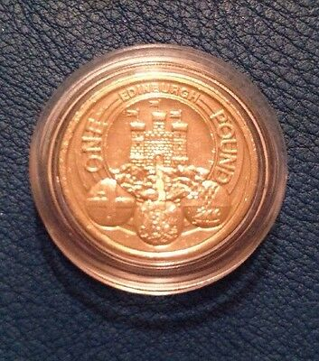 UK capital cities £1 One Pound Coin edinburgh Rarest £1 Collectable In Capsule