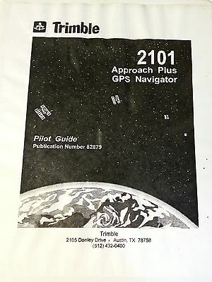 Trimble 2101 Approach Plus GPS Navigator Pilot Guide 82879, Quick Reference Card