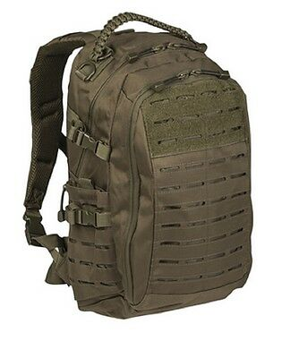 MISSION Day PACK LASER CUT SMALL Outdoor Freizeit Paracord Rucksack oliv green