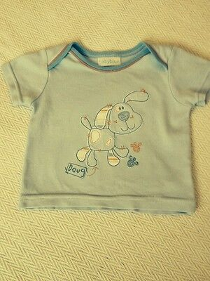 Baby Boys Blue T-shirt, Age:0-3 Months