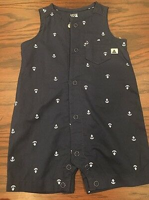 Carters Boys All In one Shortall Romper Anchor Theme 3 Month - Nwot