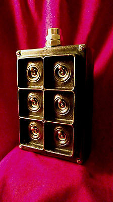 """Vintage Industrial Light Switch """"Walsall"""" 6 Six Gang Cast Iron RARE"""