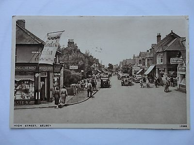 CPA Anglaise. High street Selsey