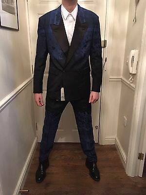 New Vivienne Westwood Navy Pixelated Double Breasted Suit Size 50 52 (IT) £1635