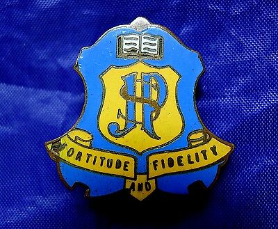 Old School Badge; J P S 'fortitude And Fidelity'. Junction Park State School.