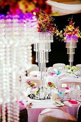 **Stunning** Large 100cm Tall Wedding Crystal Table Centrepiece