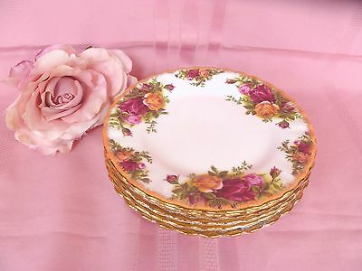 5~Genuine~Vintage~c1962~Royal~Albert~Old~Country~Roses~English~16cm~Bread~Plates
