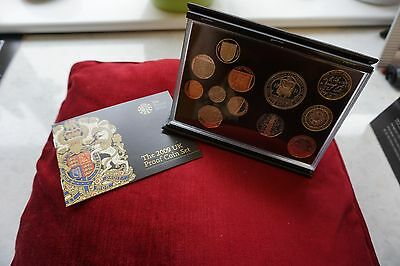 2009 ROYAL MINT DELUXE PROOF SET BLACK LEATHER CASE Kew Gardens 50 pence