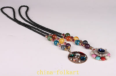 Beautiful Beautiful Beads Adornment Sweater Chain Necklace Collectable Handwork