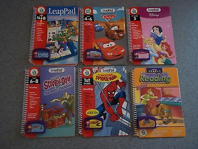 LeapFrog LeapPad Learning System 6 x Books with Games/Cartridges - Various