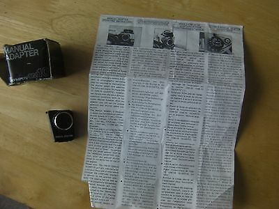 Vintage Olympus Om10 Manual Adaptor,box And Instructions.