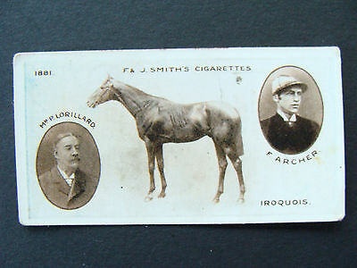 F. & J. Smith - Rare Derby Winners Card No 18 - Iroquois