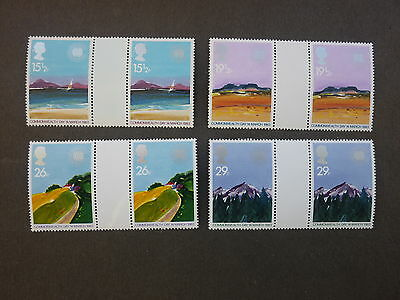 British Stamps NH  Commonwealth Day Gutter Pairs