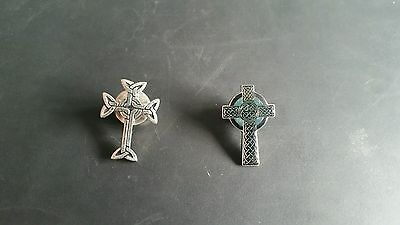 Two Celtic Cross Pins