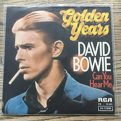 David Bowie Golden Years - Can You Hear Me Germany Ps 45 Excellent