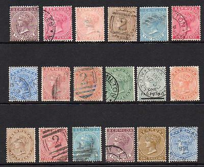 Bermuda Small Collection of Victorian Stamps (Used)